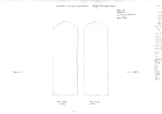 Drawing of the tower arch