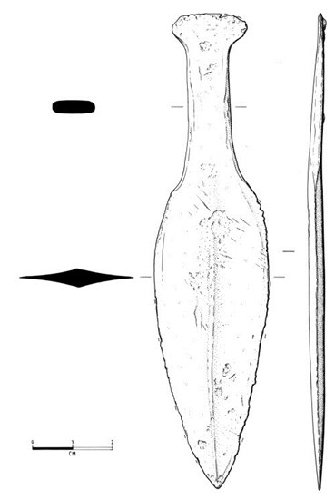 Illustration of Bronze Age knife