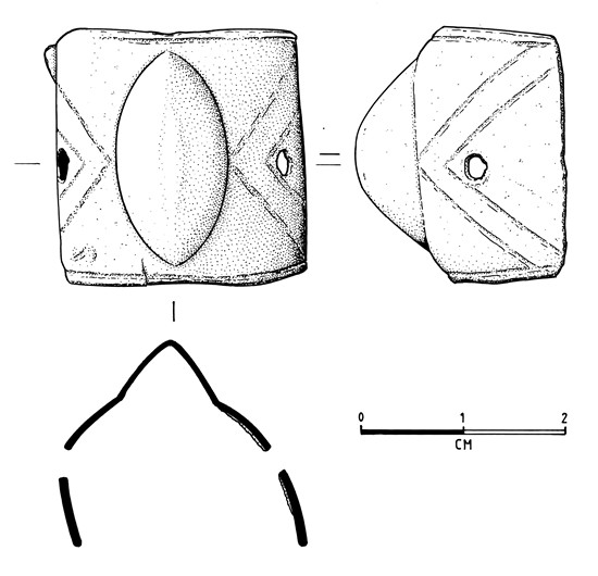 Illustration of medieval gauntlet