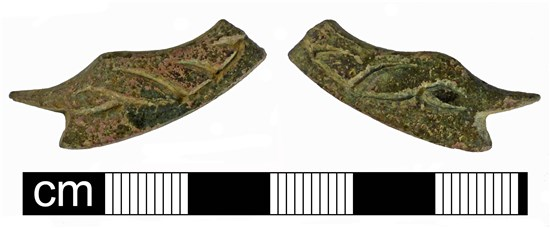 Photo of animal-headed foot of post-medieval chafing dish