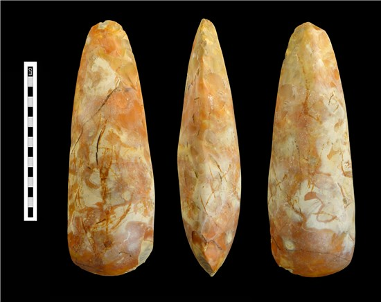 Photograph of Neolithic polished flint axe